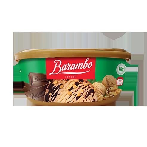 Barambo Export – ნაყინი ნიგვზით და შოკოლადის ტოპინგით