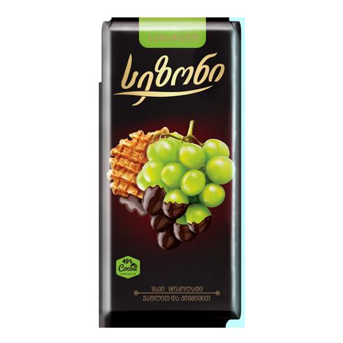 სეზონი – სამარხვო შავი შოკოლადის ფილა ვაფლით და ქიშმიშით